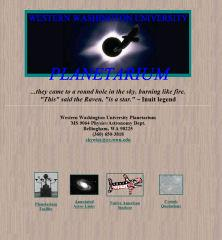 Planetariums first home page layout from 1995